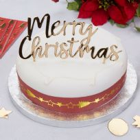 Dazzling Christmas Cake Topper